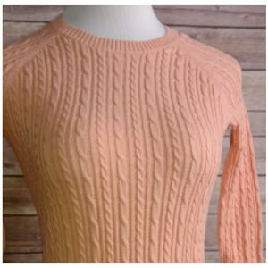 <$6 w bundle> Peach Cable Knit Sweater